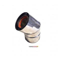 Отвод для коаксиального дымохода 45