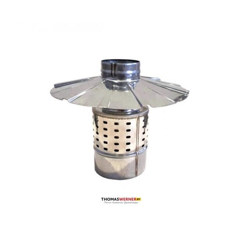 Зонт с ветрозащитой для коаксиального дымохода