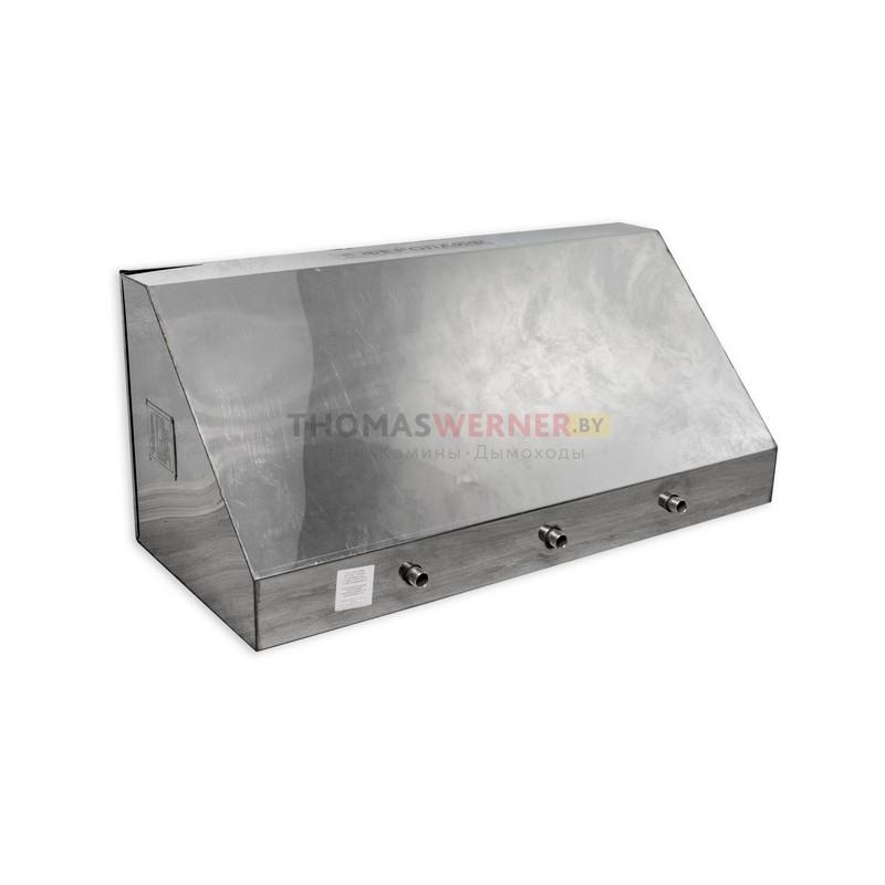 Бак для бани (накопительный, треугольный, горизонтальный) 125 литров сталь 0.8 мм