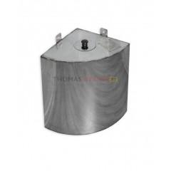Бак для бани (накопительный, треугольный, угловой) 50 литров сталь 0.8 мм