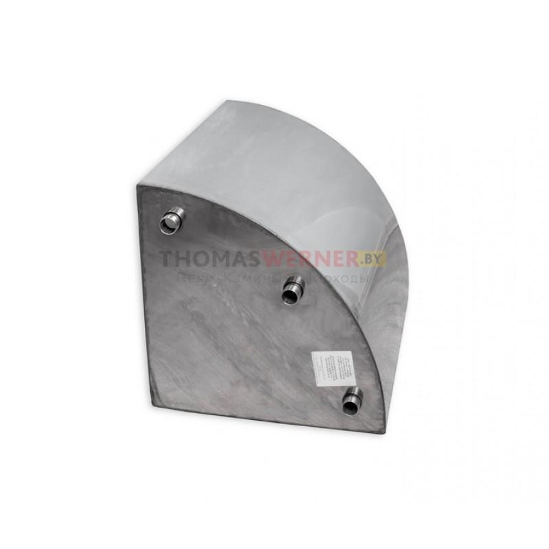 Бак для печи накопительный, треугольный, угловой 125 литров сталь 0.8 мм