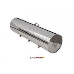 Бак для бани (накопительный, круглый) 50 литров сталь 0.5 мм