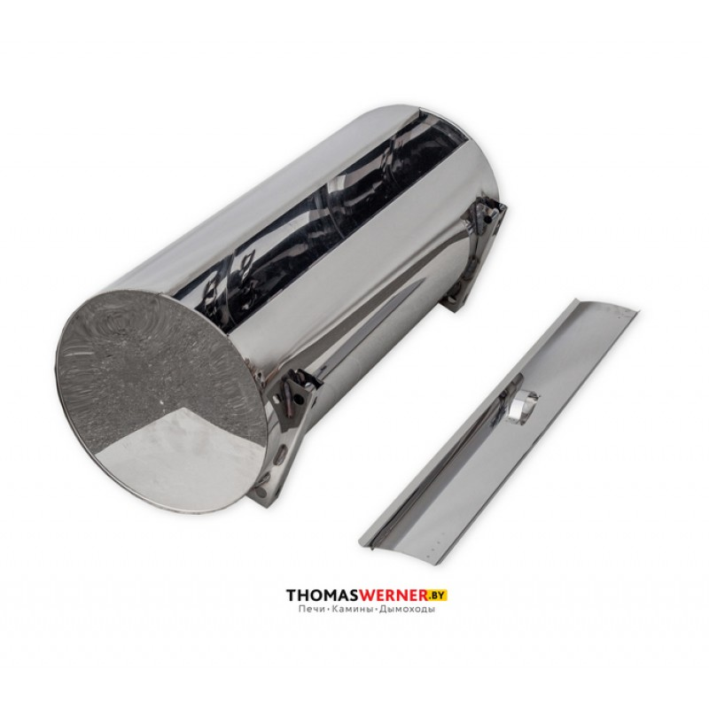 Бак для бани (накопительный, круглый) 96 литров сталь 0.8 мм