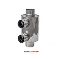 Дымоход конвектор нержавейка 2 выхода