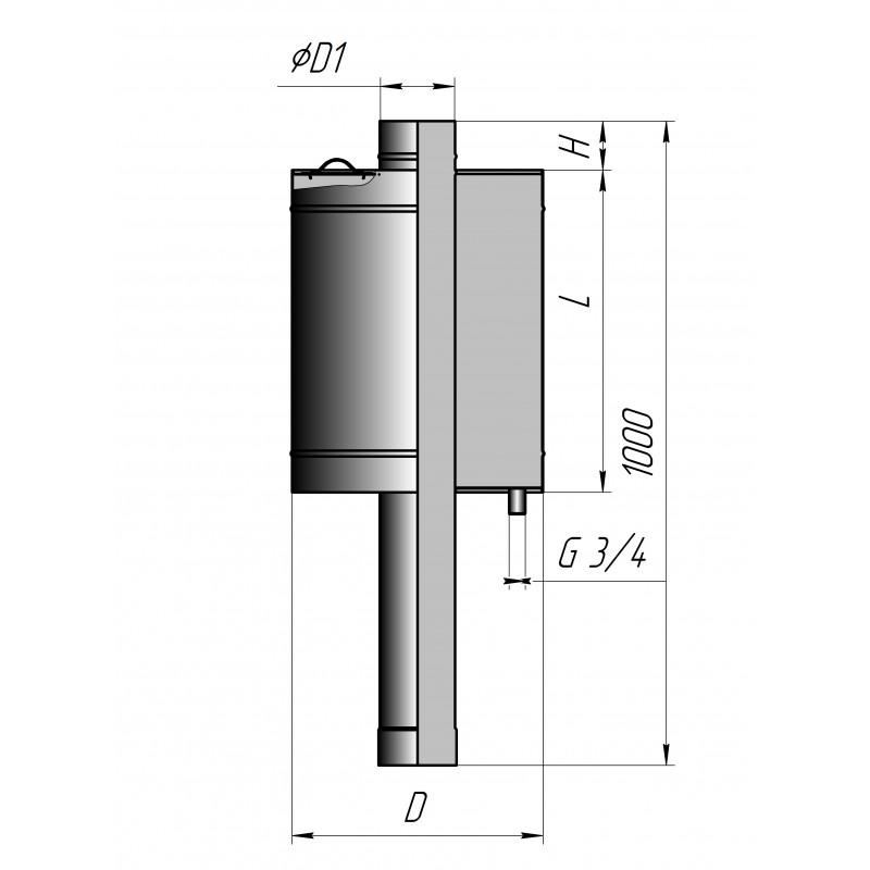 Бак для бани (круглый Ø 150) 80 литров