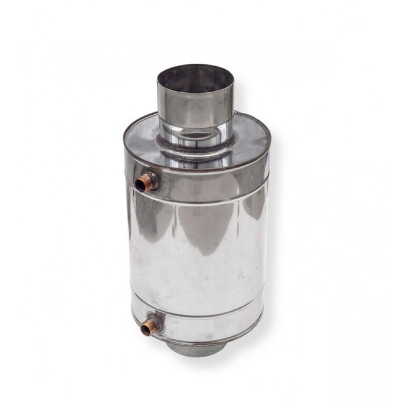 Теплообменник для печи 15 литров труба Ø 130
