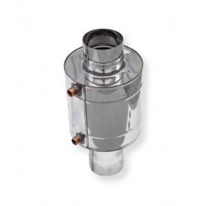 Теплообменник для печи 6 литров труба Ø 130