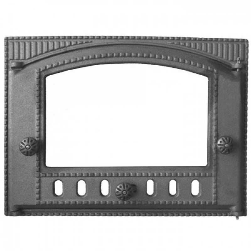 Дверца для печи ДТК-2С крашенная под стекло (ДК-2С)