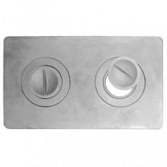 Плита для печки 2-конфорочная П2-1 585мм*340мм
