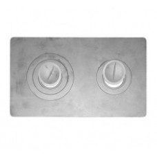 Плита для печки 2-конфорочная П2-3 710мм*410мм