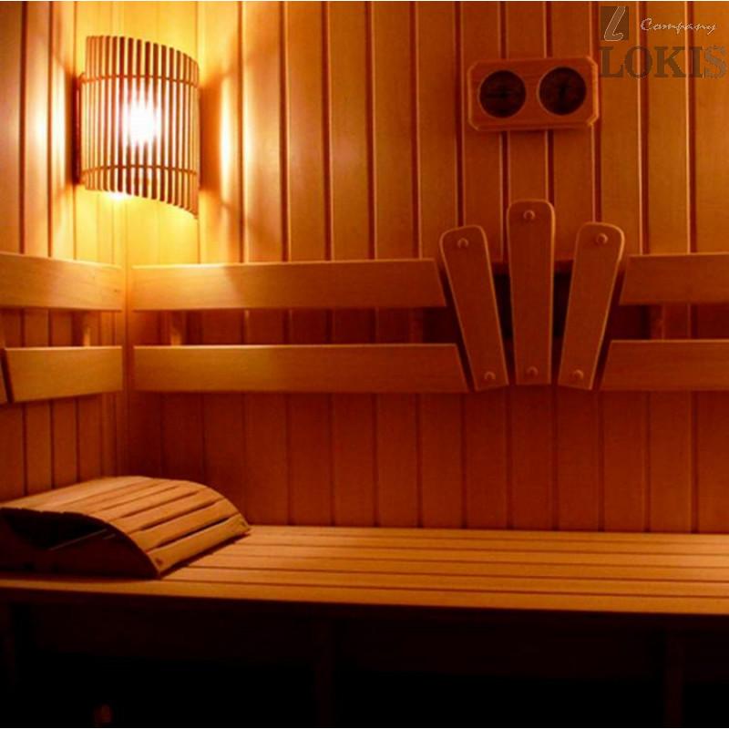 Светильник для бани прямой