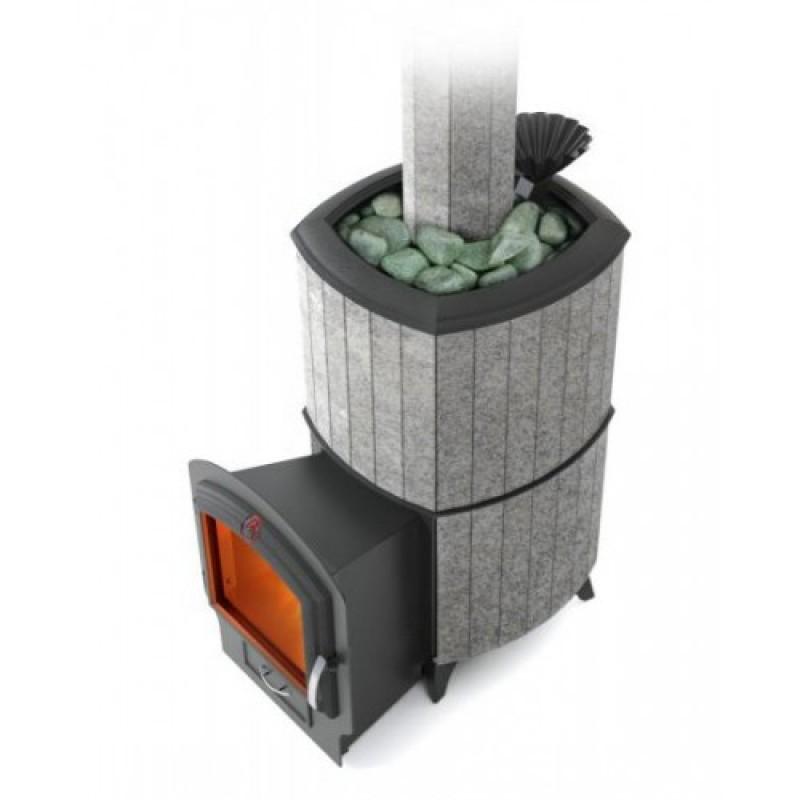 Печь-каменка для бани Термофор Альфа Гардарика Лайт Inox 3К серый гранит