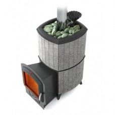Печь-каменка для бани Термофор Альфа Гардарика Лайт Inox серый гранит