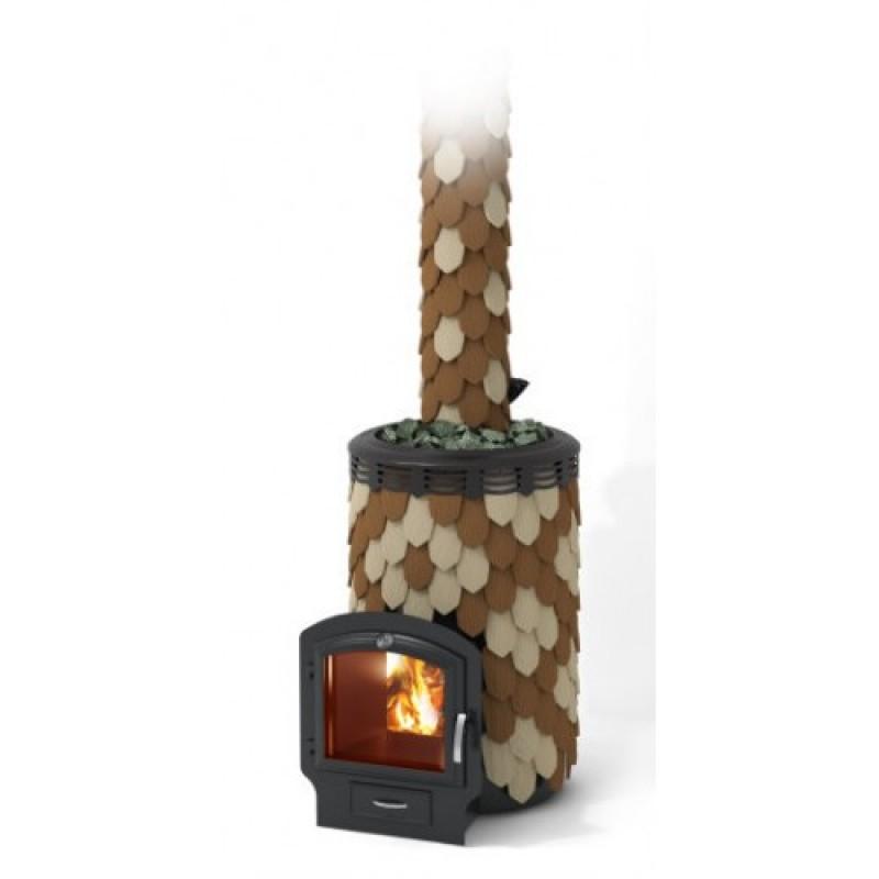 Печь-каменка для бани Термофор Альфа Панголина Inox 3К шамоттерракота
