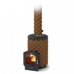 Печь-каменка для бани Термофор Альфа Панголина Inox 3К терракота