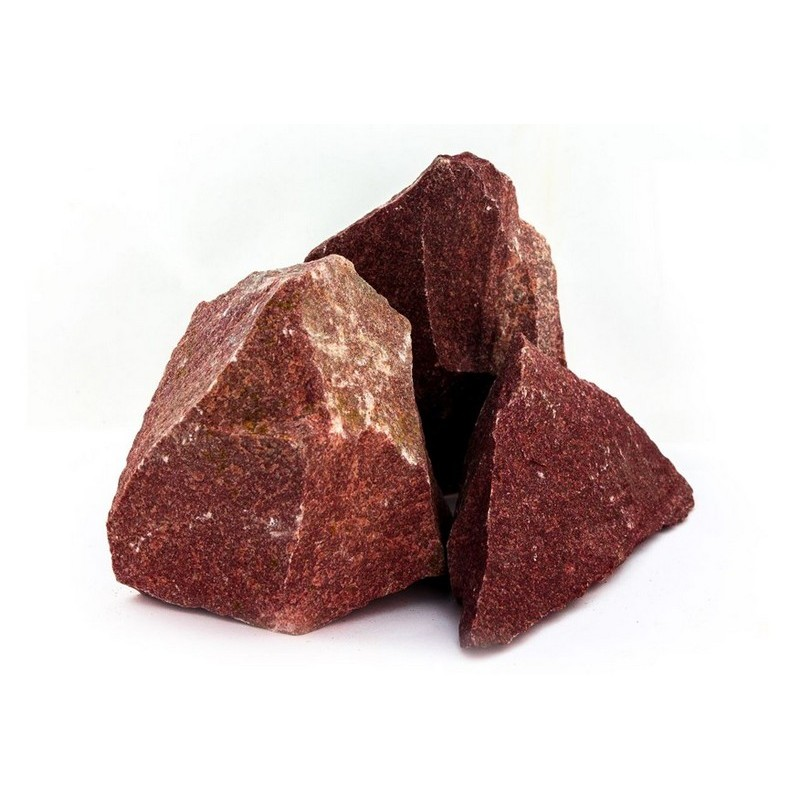 """Камни для печи в баню """"Малиновый кварцит"""" колотый 20 кг"""